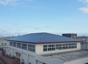 新潟市東区 東新潟特別支援学校 屋根改修工事