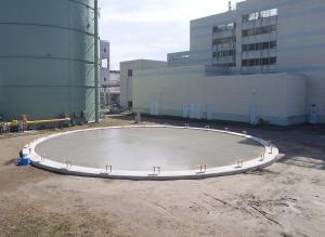 中部下水処理場No.2ガスタンク基礎工事