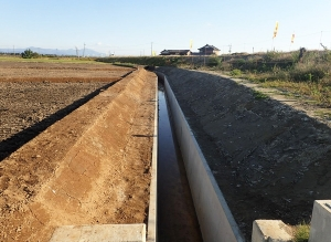 新川流域二期農業水利事業 新木山排水路付帯工事(竣工後)