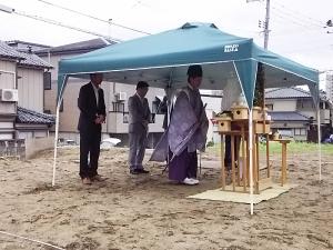 田中町 地鎮祭の様子